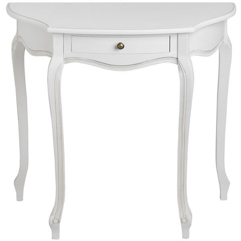 Classic White Painted Half Moon Table