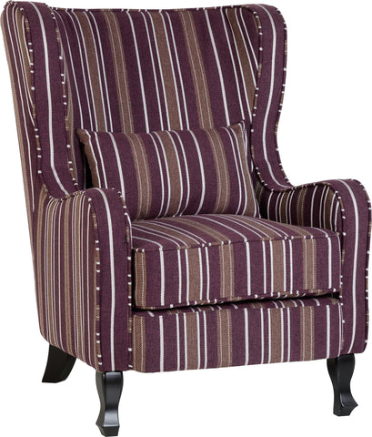 Sherbourne Striped Fireside Chair