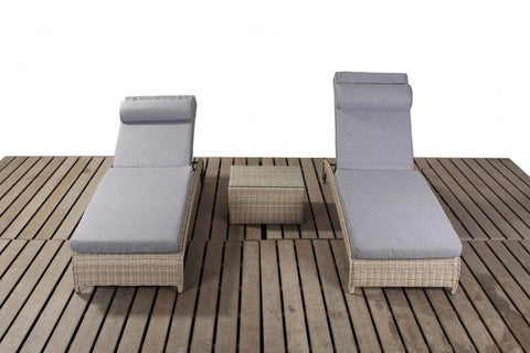 Port Royal Rural Rattan Pair Of Loungers.