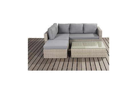 Port Royal Rural Small Rattan Left Hand Corner Sofa Set.