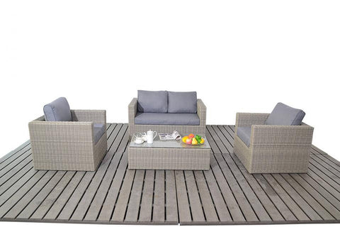 Port Royal Rural Small Rattan Sofa Set.