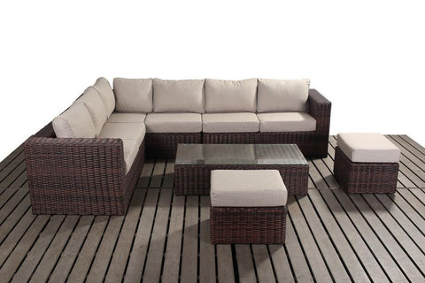 Port Royal Windsor Large Rattan Left Hand Corner Sofa Set.
