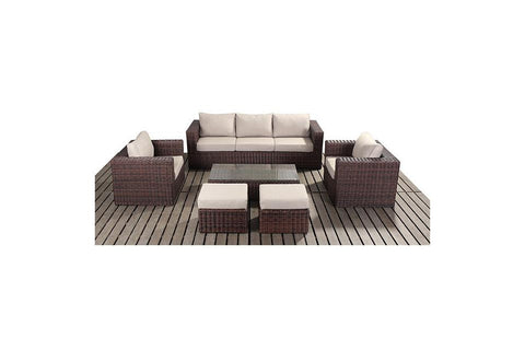 Port Royal Windsor Large Rattan Sofa Set.