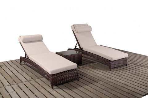 Port Royal Windsor Rattan Pair Of Loungers.