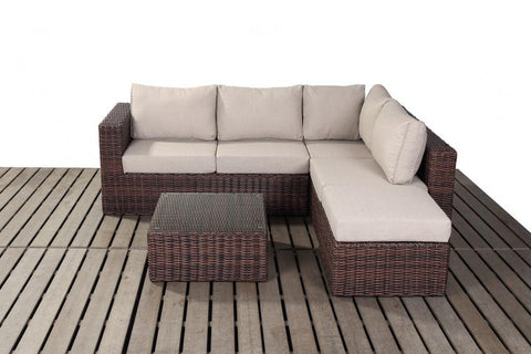 Port Royal Windsor Small Rattan Right Hand Corner Sofa Set.