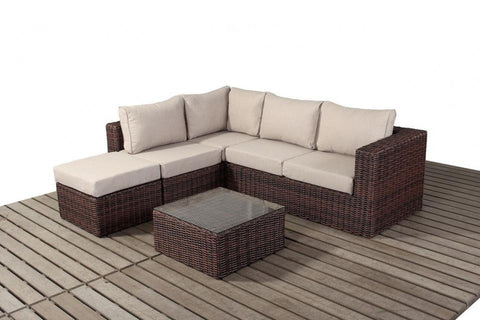 Port Royal Windsor Small Rattan Left Hand Corner Sofa Set.