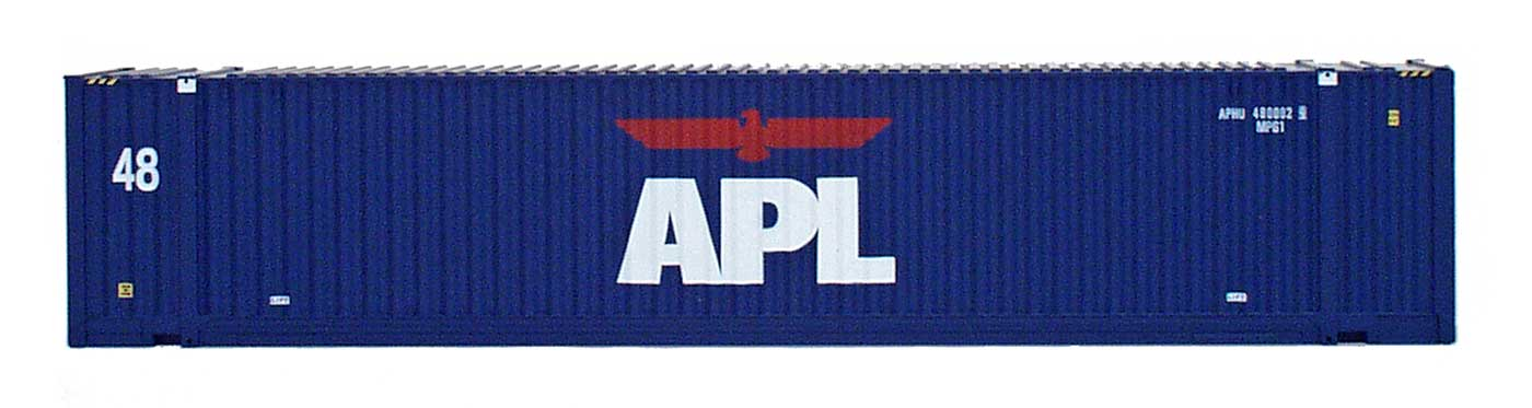 48' Jindo Corrugated Container - APL Large Logo - APHU