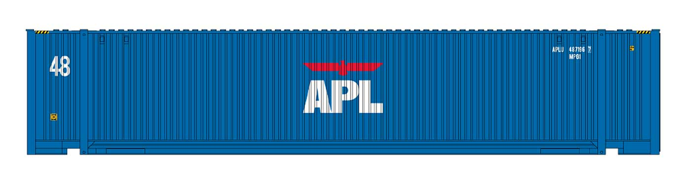 48' Jindo Corrugated Container - APL Small Logo