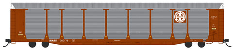 HO Scale Bi-Level Auto Rack - BNSF Brown