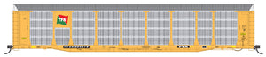 HO Scale Bi-Level Auto Rack - Transportacion Ferroviaria Mexicana on TTGX Flat Car