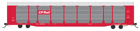 HO Scale Bi-Level Auto Rack - CP Rail on CPAA Flat Car