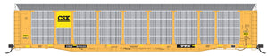 HO Scale Bi-Level Auto Rack - CSX Patch on TTGX Flat Car