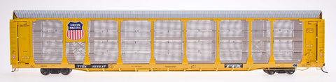 HO Scale Bi-Level Auto Rack  - Union Pacific on TTGX Flat Car