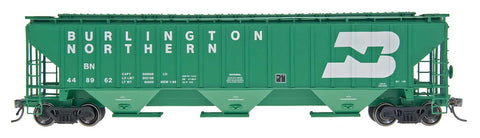 4750 Cubic Foot Rib-Sided 3-Bay Hopper - Burlington Northern