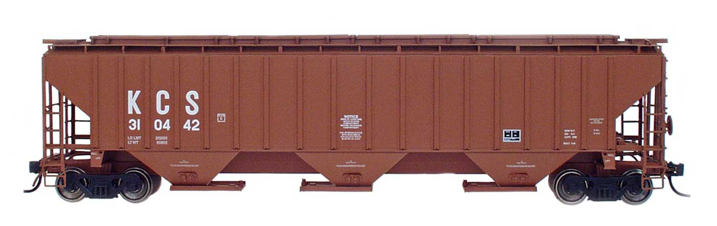 N 4750 Cubic Foot Rib-Sided 3-Bay Hopper - Kansas City Southern