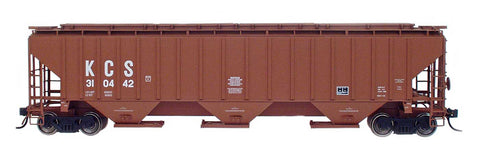 4750 Cubic Foot Rib-Sided 3-Bay Hopper - Kansas City Southern
