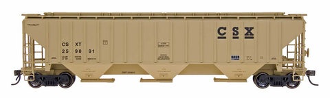 4750 Cubic Foot Rib-Sided 3-Bay Hopper - CSX