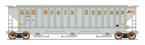 4750 Cubic Foot Rib-Sided 3-Bay Hopper - AM Grain Express