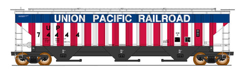 4750 Cubic Foot Rib-Sided 3-Bay Hopper - Union Pacific Bicentennial