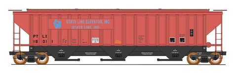 4750 Cubic Foot Rib-Sided 3-Bay Hopper - State Line Elevator
