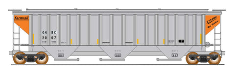 "4750 Cubic Foot Rib-Sided 3-Bay Hopper - Farmrail ""I Care"" Series"