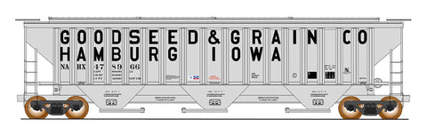 4750 Cubic Foot Rib-Sided 3-Bay Hopper - Goodseed & Grain