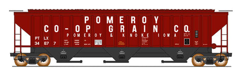 4750 Cubic Foot Rib-Sided 3-Bay Hopper - Pomeroy Co-Op Grain