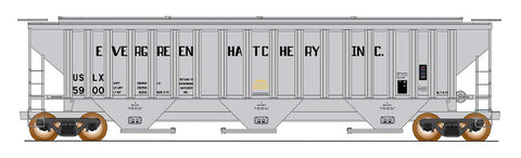 4750 Cubic Foot Rib-Sided 3-Bay Hopper - Evergreen Fish Hatchery