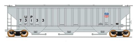 4750 Cubic Foot Rib-Sided 3-Bay Hopper - Union Pacific - 3rd Panel Shield