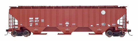4750 Cubic Foot Rib-Sided 3-Bay Hopper - BNSF - Round Herald