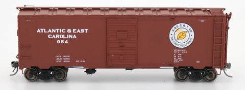 "1397 AAR 40' 10'0"" Boxcar - Atlantic & East Carolina"