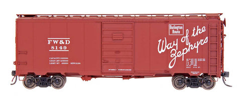 "1397 AAR 40' 10'6"" Boxcar - Fort Worth & Denver"