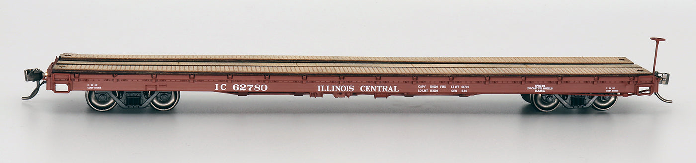 60' Wood Deck Flat Car - Illinois Central