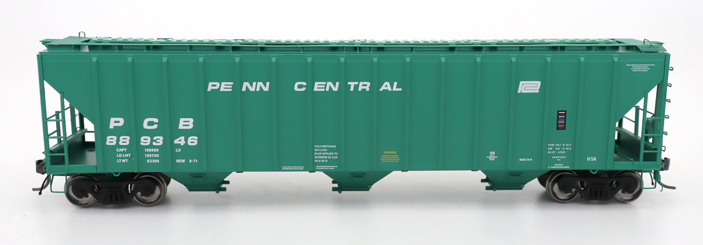 4785 PS2-CD Covered Hopper - Late End Frame - Penn Central H54 - PCB Green