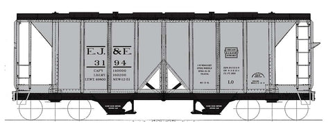 1958 cu. ft. 2-Bay Hopper - Elgin, Joliet & Eastern