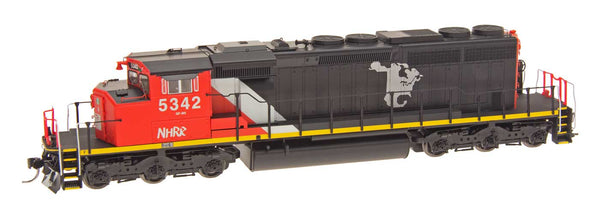 HO SD40-2W Locomotive - New Hope and Ivy - CN Map Paintout