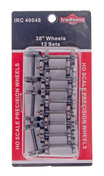 "HO 38"" Wheels - 12 Axles per pack"