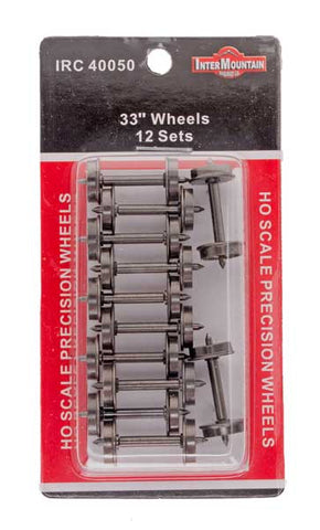 "HO 33"" Wheels - 12 Axles per pack"