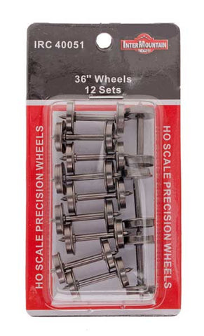 "HO 36"" Wheels - 12 Axles per pack"