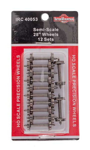 "HO 28"" Wheels SEMI SCALE - 12 Axles per pack"
