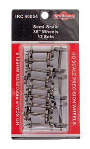 "HO 36"" Wheels SEMI SCALE - 12 Axles per pack"