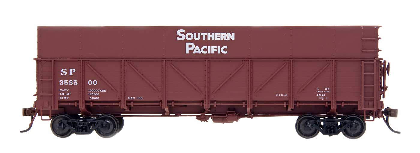 HO GS Drop Bottom Beet Gondolas - Southern Pacific - Composite Side w/ Plywood Extension