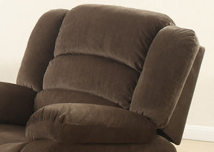 Brown Contemporary Living Room Reclining Chair With Polyester Fabric Cover