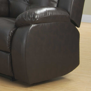 Espresso Transitional Power Reclining Leather Chair