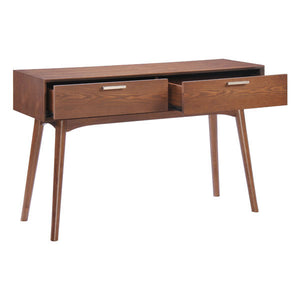 "47"" X 15.7"" X 29.7"" Walnut District Console Table"