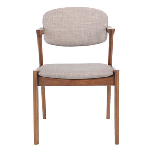 "20.3"" X 23"" X 31.5"" 2 Pcs Dove Gray Dining Chair - Linen Polyblend Rubberwood"