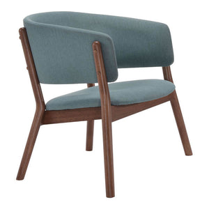 "32.9"" X 23.4"" X 27"" Blue Chapel Lounge Chair"