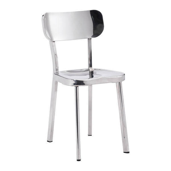 "15.6"" X 17.3"" X 30.9"" 2 Pcs Stainless Steel Chair"