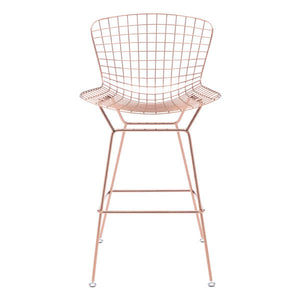 "21.3"" X 23"" X 40"" 2 Pcs Rose Gold Wire Bar Chair"