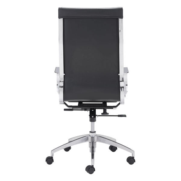 "27.6"" X 27.6"" X 45.3"" Black Leatherette Back Office Chair"